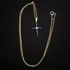 Jewelry - Sapphire cross pendant